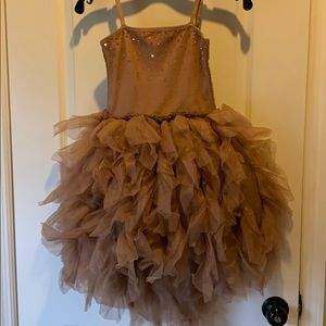 Beautiful rose gold party dress